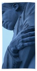 Hand Towel featuring the photograph A Blue Martin Luther King - 2 by Cora Wandel