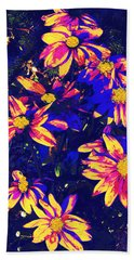 Abstract Flower Floral Photography And Digital Painting Combination Mixed Media By Navinjoshi        Bath Towel