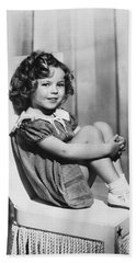 Actress Shirley Temple Hand Towel by Underwood Archives