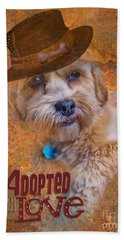 Adopted With Love Hand Towel