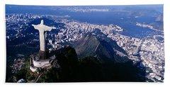 Aerial, Rio De Janeiro, Brazil Bath Towel