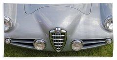 Hand Towel featuring the photograph Alfa Romeo 1900 Ss Zagato Berlinetta 1956 by Maj Seda