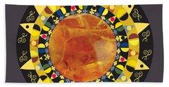 Bath Towel featuring the digital art Amber Mandala by Kim Prowse