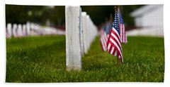 Hand Towel featuring the photograph American Flag by Jerry Gammon