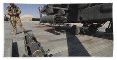 An Agm-114 Hellfire Missile Is Ready Bath Towel