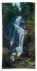 Hand Towel featuring the photograph Angel Falls by Alana Ranney