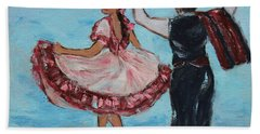 Argentinian Folk Dance Bath Towel