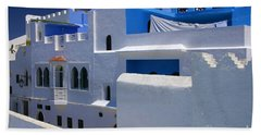 Bath Towel featuring the photograph Asilah Meaning Authentic In Arabic Fortified Town On Northwest Tip Of Atlantic Coast Of Morocco by Ralph A  Ledergerber-Photography