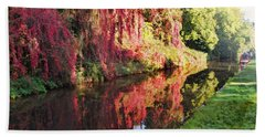 Hand Towel featuring the digital art Autumn Colours by Paul Gulliver