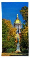 Autumn On The Campus Of Notre Dame Hand Towel
