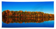 Autumn Reflections Bath Towel by Andy Lawless