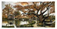 Autumn Stroll Hand Towel