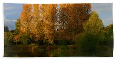 Bath Towel featuring the photograph Autumn Trees by Jeremy Hayden