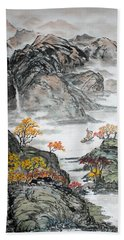 Bath Towel featuring the painting Autumn  by Yufeng Wang