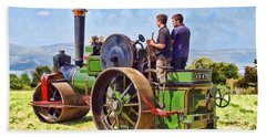 Bath Towel featuring the photograph Aveling Roller by Paul Gulliver