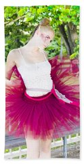 Ballerina Stretching And Warming Up Hand Towel