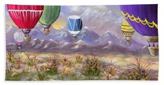 Hand Towel featuring the painting Balloons by Jamie Frier