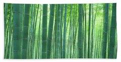 Bamboo Forest, Sagano, Kyoto, Japan Hand Towel