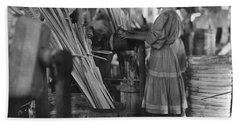 Basket Factory, 1908 Hand Towel