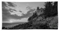 Bass Harbor Head Light Sunset  Bath Towel