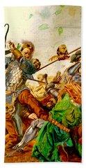 Battle Of Grunwald Bath Towel by Henryk Gorecki