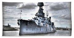 Battleship Texas Bath Towel by Savannah Gibbs