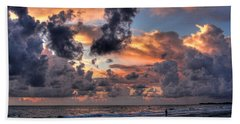 Beach Walk - Florida Seascape Hand Towel by HH Photography of Florida