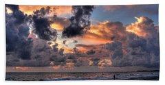 Beach Walk - Florida Seascape Bath Towel by HH Photography of Florida
