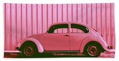 Beetle Pop Pink Bath Towel