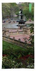 Bethesda Fountain - Central Park Nyc Hand Towel