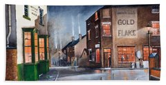 Hand Towel featuring the painting Black Country Village Centre by Ken Wood