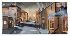 Black Country Village From The Boat Yard Bath Towel