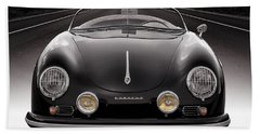 Black Porsche Speedster Bath Towel