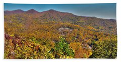 Hand Towel featuring the photograph Blue Ridge Parkway by Alex Grichenko