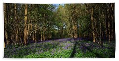 Bath Towel featuring the photograph Bluebells by Jeremy Hayden