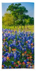 Bluebonnet Pasture Bath Towel