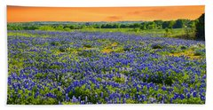 Bluebonnet Sunset  Hand Towel by Lynn Bauer