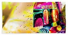 Boba Fett Star Wars Hand Towel by Daniel Janda