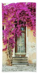 Bougainvillea Doorway Hand Towel by Allen Beatty