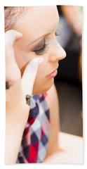 Bridal Eyelashes Bath Towel