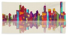 Brisbane Australia Skyline Bath Towel