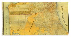 Britton And Reys Guide Map Of The City Of San Francisco. 1887. Bath Towel