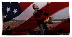 Bruce Springsteen Bath Towel by Marvin Blaine