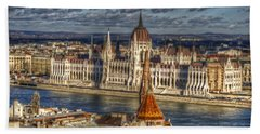 Buda Parliament  Hand Towel by Nathan Wright