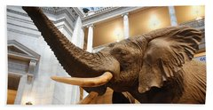 Bull Elephant In Natural History Rotunda Bath Towel