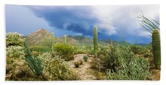 Cacti Growing At Saguaro National Park Bath Towel