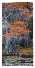 Caddo Lake Autumn Hand Towel