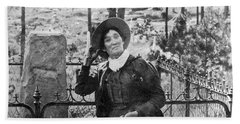 Calamity Jane At Wild Bill Hickoks Hand Towel