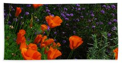 Bath Towel featuring the photograph California Poppies by Lynn Bauer