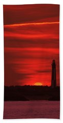 Cape Henry Lighthouses  Hand Towel